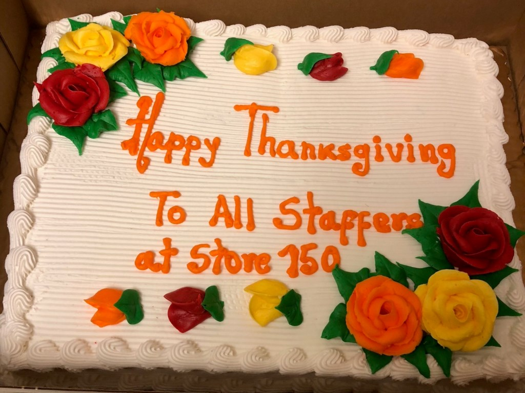 Store # 150 Store 150 Celebrated Thanksgiving With Their Associates.