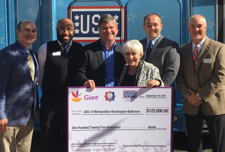 Giant Supports The Troops By Donating To The USO