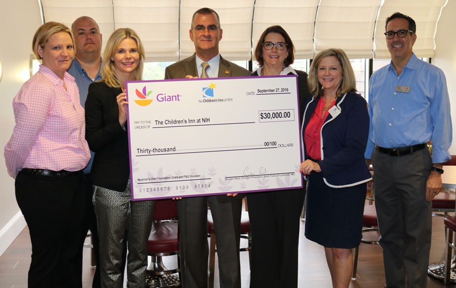 Giant Leaders Supported Children Battling Sickness By Presenting A Contribution Of $30,000 To The Children's Inn At The National Institutes Of Health