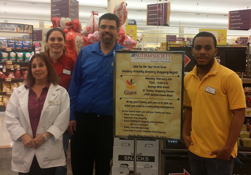 The Owings Mills, MD Giant Sponsored A Sensory-friendly Shopping Experience In Conjunction With The Autism Society Of Baltimore