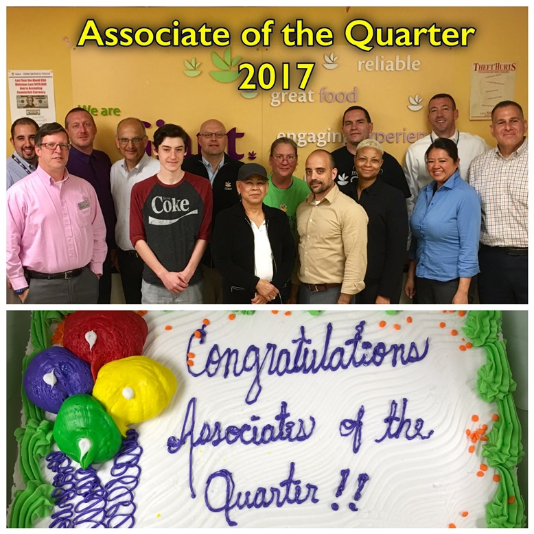 District #105 Celebrates Its Associates Of The Quarter For The First Quarter Of 2017