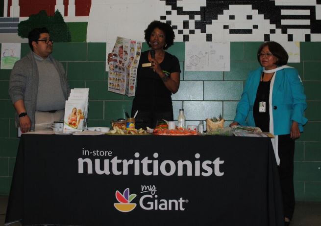 Nutritionist Leslie Jefferson Provided Information About Healthy Eating On A Budget To 75 Local Residents