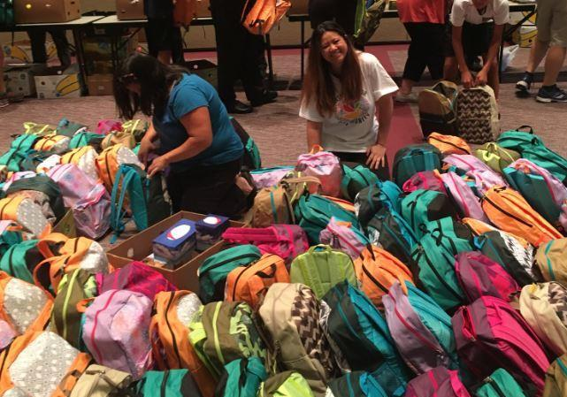 District #105 Raised Backpacks For Local Schools