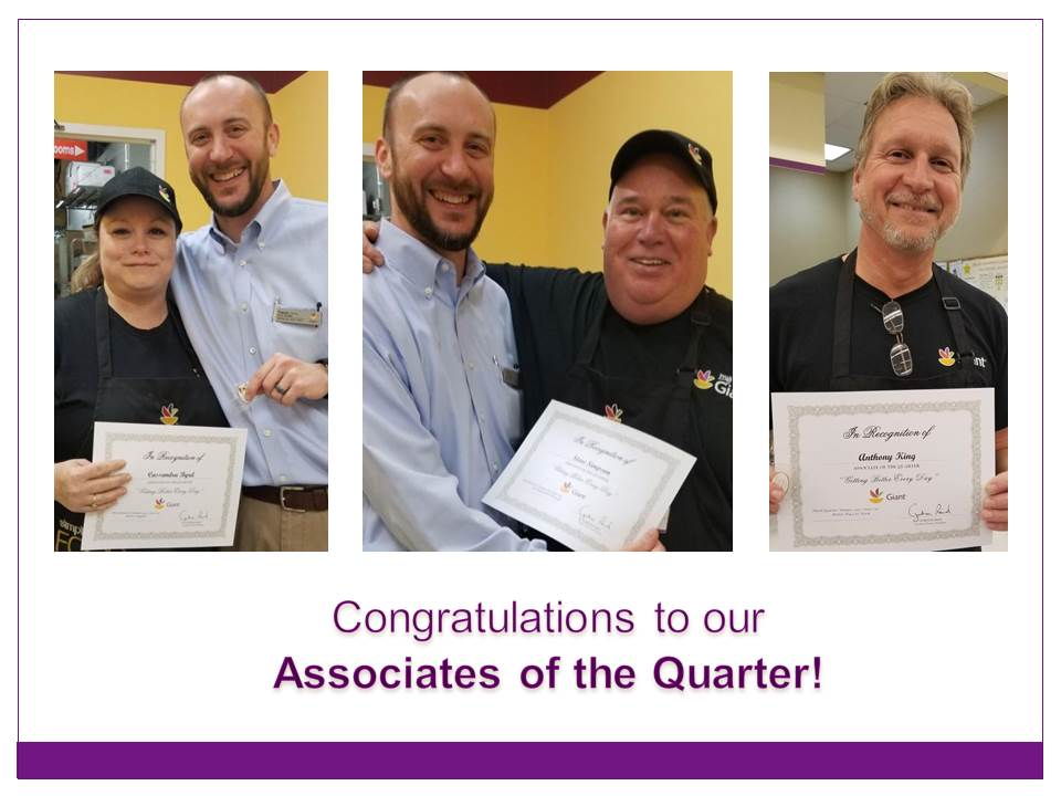 District # 105 Celebrates Its Associates Of The Quarter