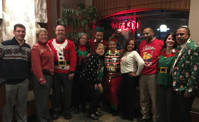 District Director, Amy, And Her Team In D93 Having Fun In Their Ugly Sweaters
