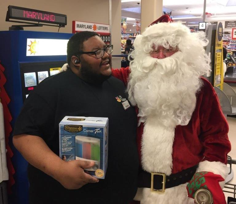 Santa Spreading Smiles At #310 In The Bowie Neighborhood