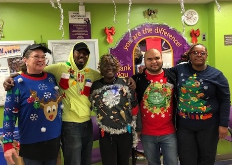 Associates At Store # 152 In Colesville, MD Show Off Their Holiday Spirit.