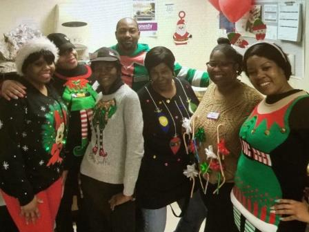 Store # 375 Showing The Xmas Spirit With The Ugly Sweater Contest