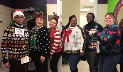 Lanham Store # 326 Prepares For The Holidays With An Ugly Sweater Contest.