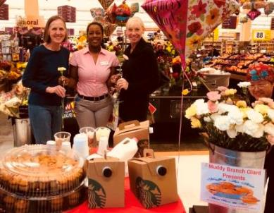 "Store # 368 Celebrated Mother's Day With ""Muffins With Mom"". All Mothers Were Welcomed With Coffee, Muffin And A Carnation."