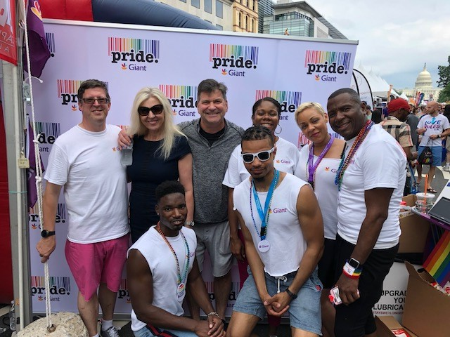 Giant Food President, Gordon Reid, And Giant Associates At The Capital Pride Event.