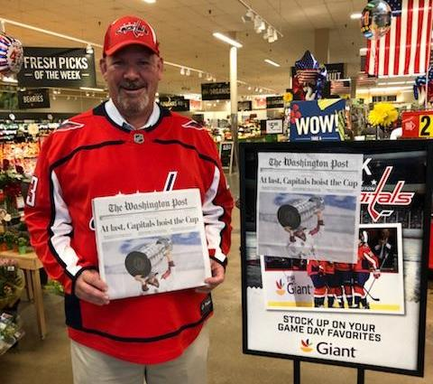 Jack, Store #2310, Ready To Celebrate The Caps Victory!