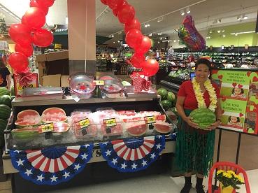 Store 358 Associate Jayanne  Celebrates  National Watermelon Day On August 3, 2018.