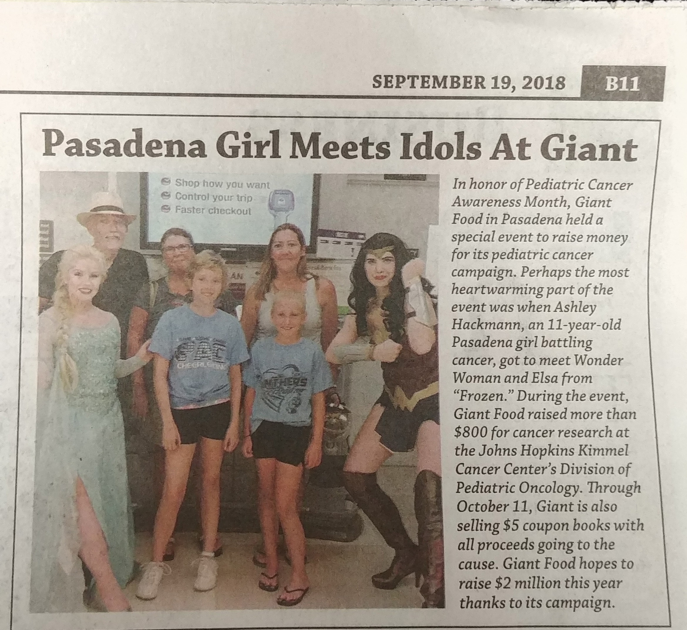 The Pasadena Voice Features Pediatric Cancer Ambassador Ashley Hackmann